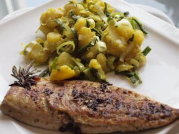 Salat: Kartoffelsalat mit Curry und Lauch - Rezept