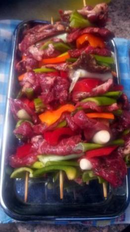 Ribeye - Steak - Spieß  mit Chili Salsa - Rezept - Bild Nr. 5