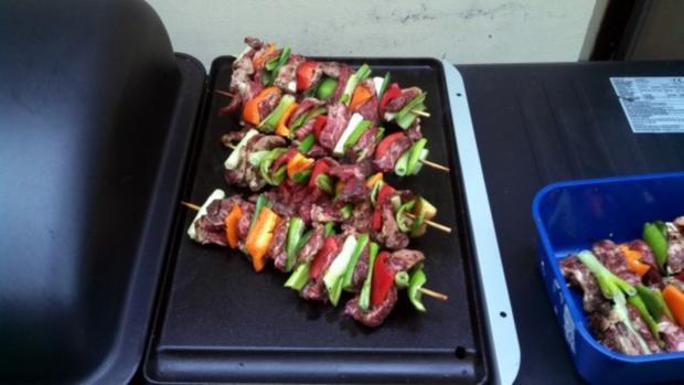 Ribeye - Steak - Spieß  mit Chili Salsa - Rezept - Bild Nr. 3