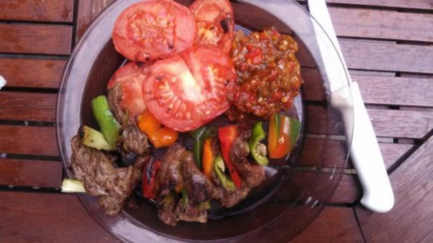 Ribeye - Steak - Spieß  mit Chili Salsa - Rezept