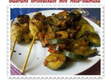 Fleisch: Grillfackeln mit Asia-Gemüse - Rezept