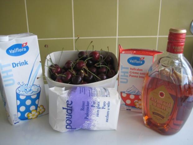 Kirschen - Eis mit Amaretto - Rezept - Bild Nr. 4