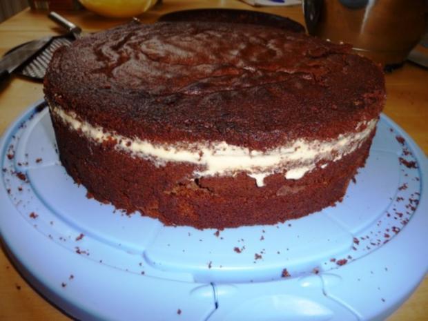 Schokoladen-Marzipan-Torte - Rezept - Bild Nr. 8