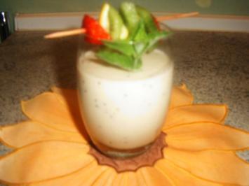 Bananen- Apfel -Kiwi -Drink - Rezept