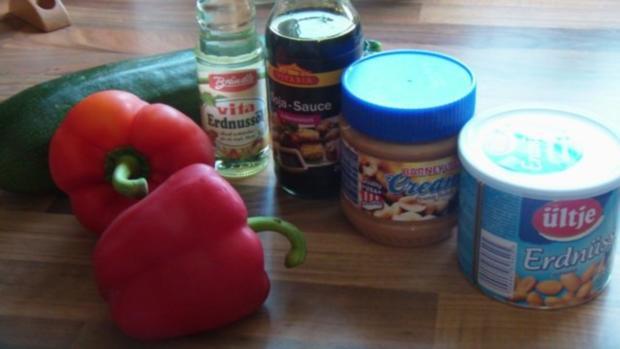 Gemüse mit Erdnuss Soße und knackigen Nüssen - Rezept - Bild Nr. 2