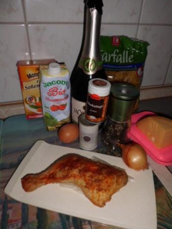 Pfannengericht: Hähnchen-Tomaten-Ragout mit Nudeln - Rezept - Bild Nr. 3