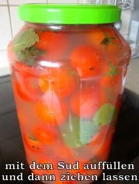Kirschtomaten - würzig eingelegt - Rezept
