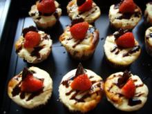Kleine Kuchen: Brownie Cheesecakes - Rezept