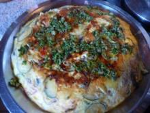 Vegetarisch: Tortilla mit Gemüse und Feta - Rezept