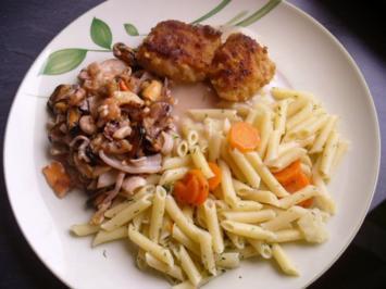 Butternudeln mit Frutti di Mare und Zander - Rezept