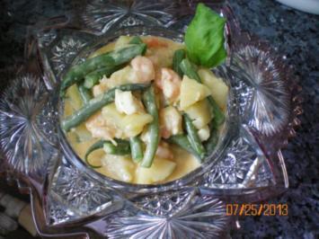 Salat: Kartoffelsalat mit Garnelen - Rezept