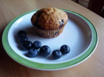 Gebäck: Blaubeermuffins - Rezept