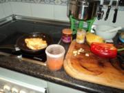 Huehnerfilet mit Mango/Paprika - Rezept