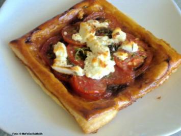 Tomaten-Blätterteig-Quiche - Rezept