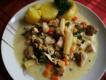 sommerliches Frikassee  mit Gemüse - Rezept