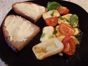 Eingelegter Limburger mit kandierten Tomaten - Rezept