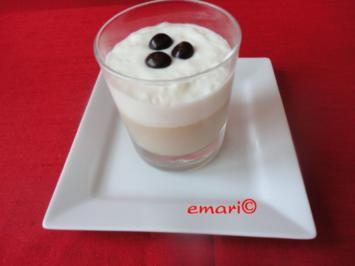 Baileys Dessert mit Wodka Creme Häubchen - Rezept