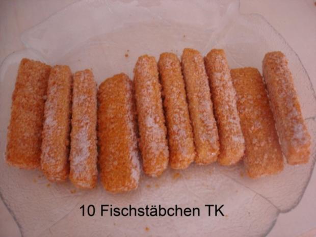 Fischstäbchen mit Rosmarinkartoffeln und Rote-Bete-Salat - Rezept - Bild Nr. 2