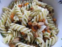 Vegan : Gemüse - Räuchertofu - Nudelpfanne - Rezept