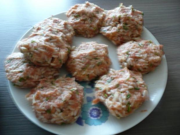 "Reis - Burger an ""Fußballgemüse"" - Rezept - Bild Nr. 2"