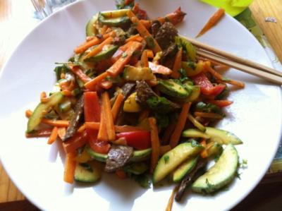 Pfannengemüse in Erdnuss-Sauce, creamy and spicy! - Rezept