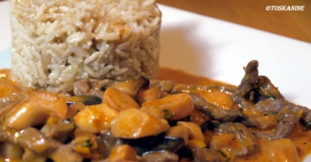 Rindergeschnetzeltes mit Kräuterseitlingen und Vollkorn-Basmati-Reis - Rezept - Bild Nr. 15