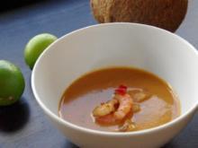 Currysuppe & Garnelen - Rezept