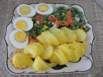 Fleischlos : Eier in Petersiliengemüse mit Pellkartoffeln - Rezept