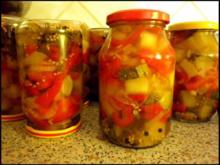 Zucchini und Paprika süß-sauer - Rezept