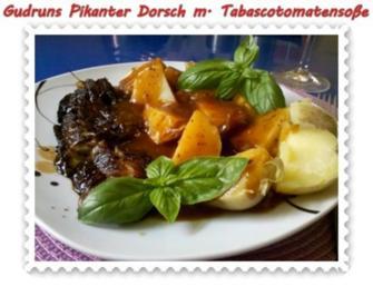 Fisch: Pikanter Dorsch mit Tabasco-Tomatensoße - Rezept