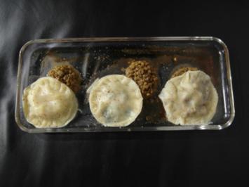 Dreierlei gefüllte Ravioli: Weißes Rind, Jakobsmuscheln & Mangold-Pfefferminzfüllung - Rezept