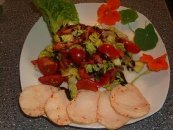 Gemischter Salat mit Balsamico und Hühnerbrust - Rezept