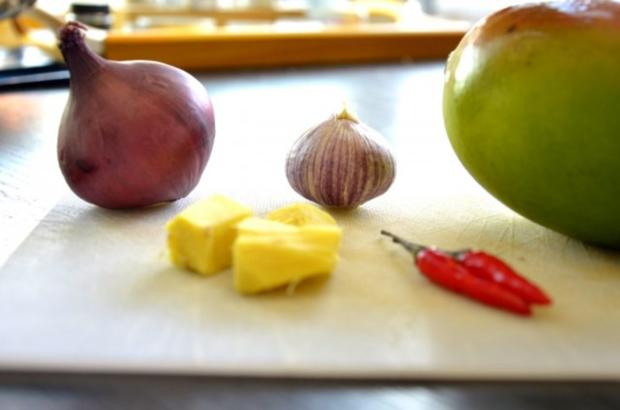 Mango-Chili-Eis an Sesam-Jakobsmuscheln - Rezept - Bild Nr. 2