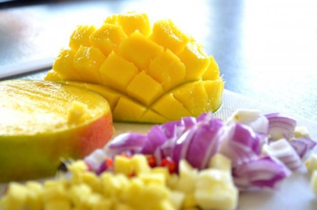 Mango-Chili-Eis an Sesam-Jakobsmuscheln - Rezept - Bild Nr. 3