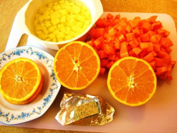leichte sommersuppe mit m hren und orangen rezept. Black Bedroom Furniture Sets. Home Design Ideas