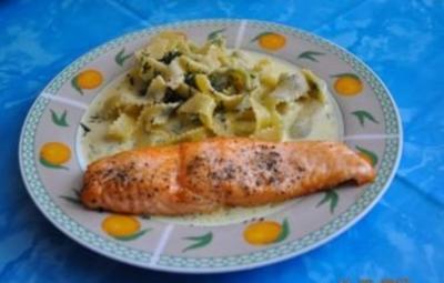 Kochen: Lachs mit Estragon-Senf-Sosse - Rezept