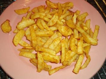 Pommes Frites aus dem Ofen - Rezept