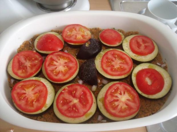 Orientalisch angehauchter Bulgur mit Aubergine aus dem Ofen - Rezept - Bild Nr. 2