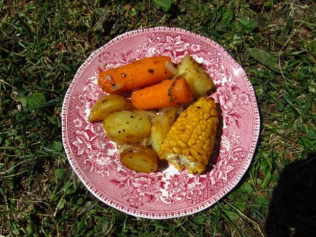 In Öl gebackene Maiskolben mit Kartoffeln - Rezept - Bild Nr. 2