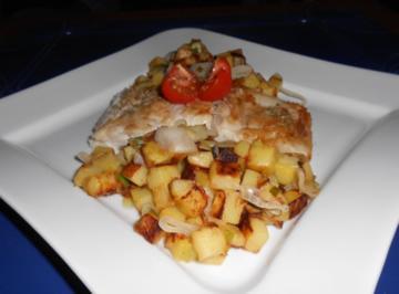 Rezept: Victoriasee-Barschfilet mit Bratkartoffeln