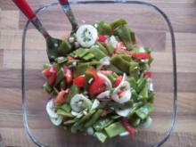 Bohnensalat mit Tomaten und Gurke - Rezept