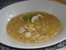 Weisse Bohnen mit Venusmuscheln - Rezept