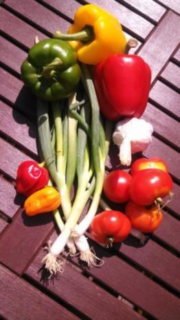Rind, Schwein & Paprika geschnetzeltes mit Gemüsereis - Rezept - Bild Nr. 2