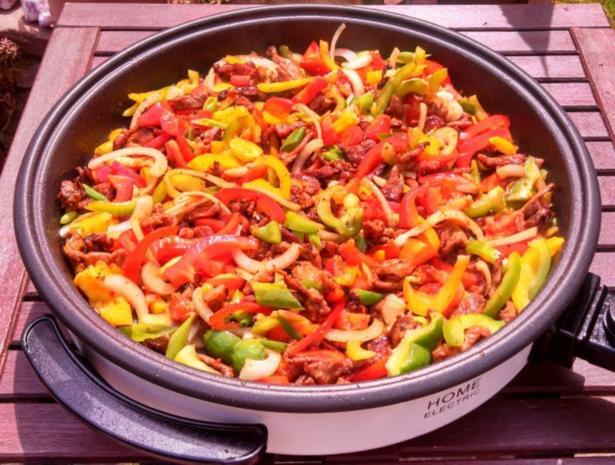 Rind, Schwein & Paprika geschnetzeltes mit Gemüsereis - Rezept - Bild Nr. 7