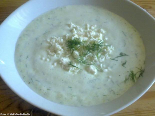 Joghurt-Gurken-Suppe mit Ouzo - Rezept