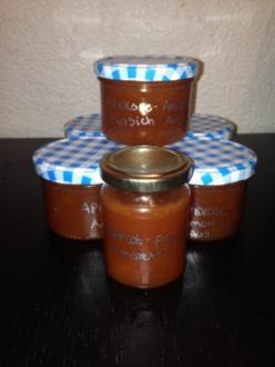 Aprikose-Amaretto-Pfirsich Konfitüre - Rezept