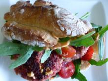 Wilde Rauke Burger - Rezept