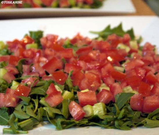 Hähnchenbrust in Pancetta auf sommerlichem Salat - Rezept - Bild Nr. 8