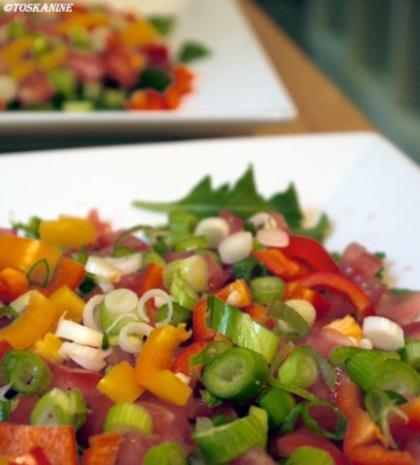 Hähnchenbrust in Pancetta auf sommerlichem Salat - Rezept - Bild Nr. 10