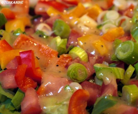 Hähnchenbrust in Pancetta auf sommerlichem Salat - Rezept - Bild Nr. 14